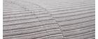 Chauffeuse convertible déhoussable en velours côtelé gris clair SPENCER