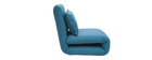 Chauffeuse convertible design bleu canard SLEEPER