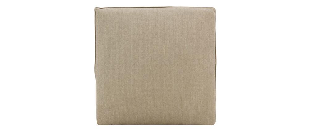 Chauffeuse design tissu taupe MODULO