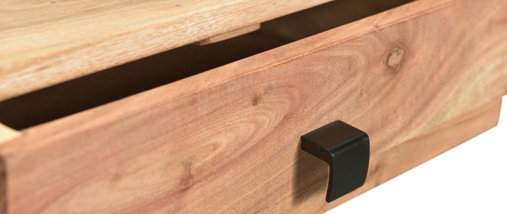 Console 2 tiroirs en acacia et métal GRENELLE