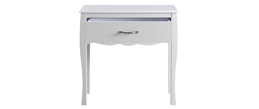 Console design laquée blanc 1 tiroir MARGOT