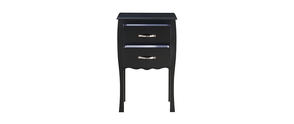 Console design laquée noir 2 tiroirs MARGOT