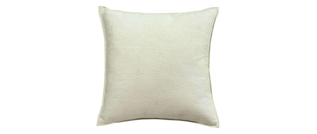 Coussin en velours blanc 45 x 45 cm ALOU