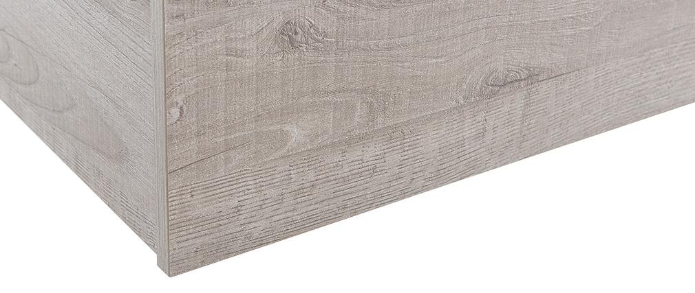 Elément mural COLORED Carré bois grisé