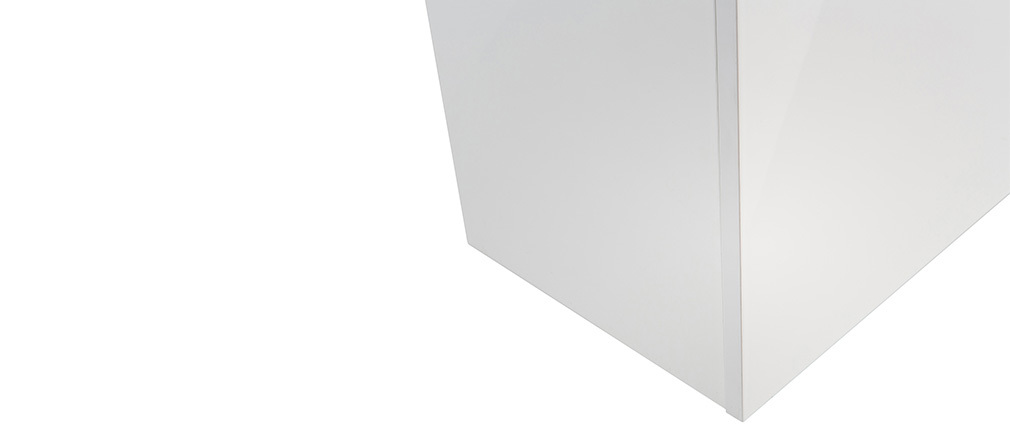 Elément mural COLORED Carré Laqué Blanc