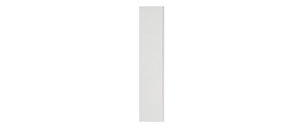 Élément mural TV horizontal ou vertical laqué blanc COLORED
