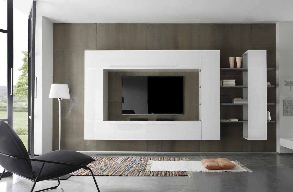 Salon Tv Contemporain: Meuble bibliotheque tv contemporain. Meuble ...