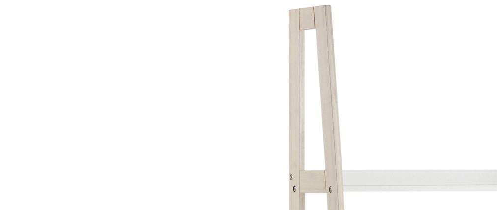 Étagère échelle scandinave bois clair et blanc WILO