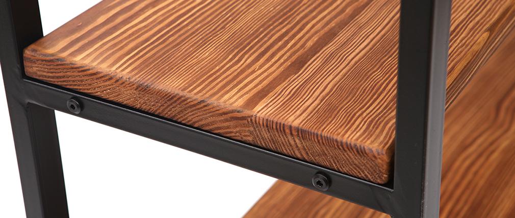 Étagère industrielle métal et bois ARISTOTE