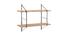 Etagère murale design bois et métal BRIDGE