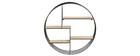 Etagère murale design ronde bois et métal ENSO