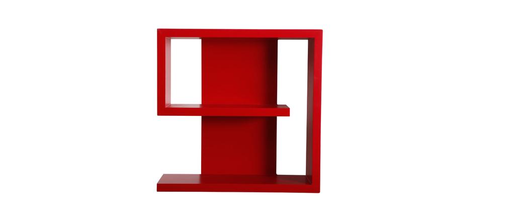 etag re murale design rouge nine miliboo. Black Bedroom Furniture Sets. Home Design Ideas