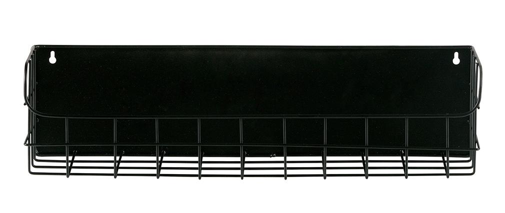 Étagère murale métal noir 50 cm MANUFACTURE