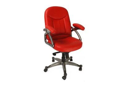 Fauteuil / chaise de bureau rouge design Enzo