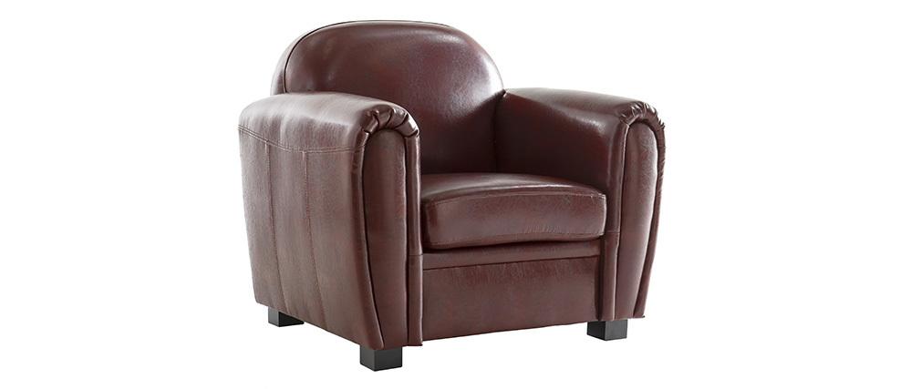 Fauteuil Club cuir marron clair - cuir de vachette