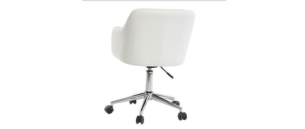 Fauteuil de bureau design blanc BALTIK