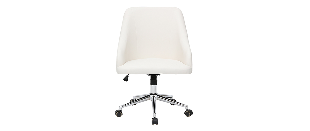 Fauteuil de bureau design blanc SCARLETT