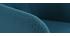 Fauteuil de bureau design en tissu bleu canard BALTIK