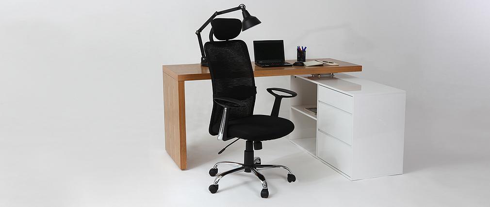 Fauteuil de bureau design noir ADAPT