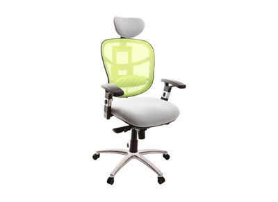 Fauteuil de bureau ergonomique anis et blanc UP TO YOU