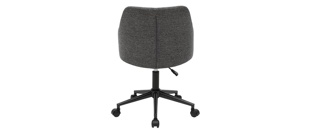 Fauteuil de bureau moderne en tissu gris HEMMY