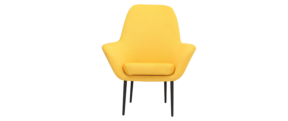 Fauteuil design contemporain jaune OSWALD