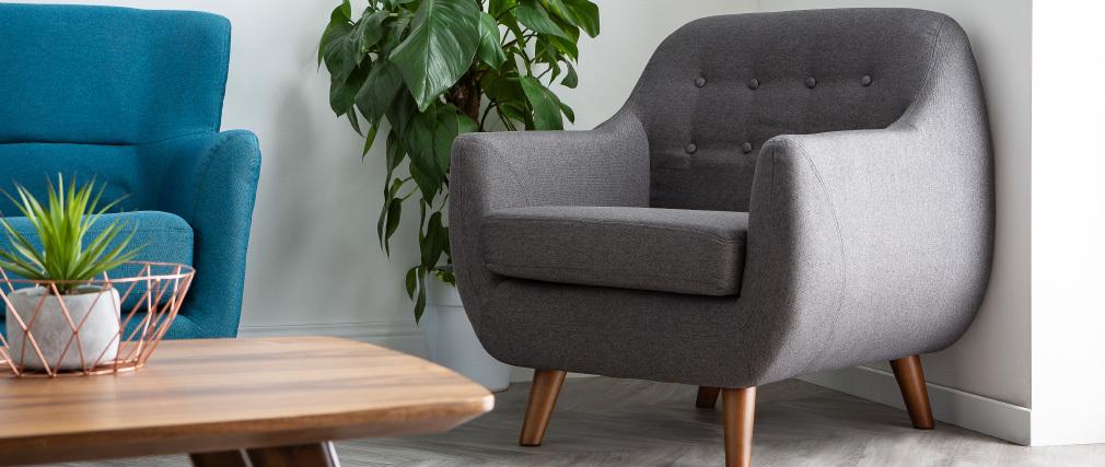 Fauteuil design déhoussable gris anthracite YNOK