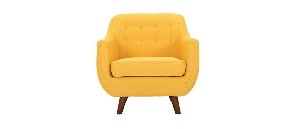 Fauteuil design déhoussable jaune YNOK