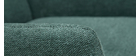 Fauteuil design en métal et tissu effet velours texturé vert COME