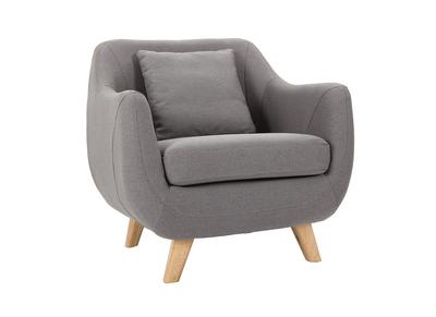 Fauteuil design gris SKANDI