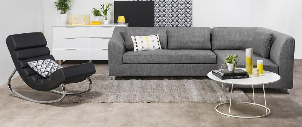 Fauteuil design noir rocking chair TAYLOR