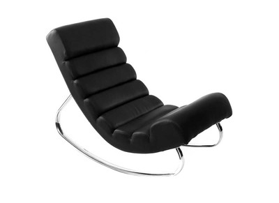 Fauteuil design noir rocking chair TAYLOR