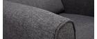Fauteuil design tissu gris foncé VIVO