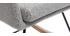 Fauteuil rocking chair design en tissu gris clair SHANA