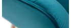 Fauteuil scandinave en velours bleu pétrole AVERY
