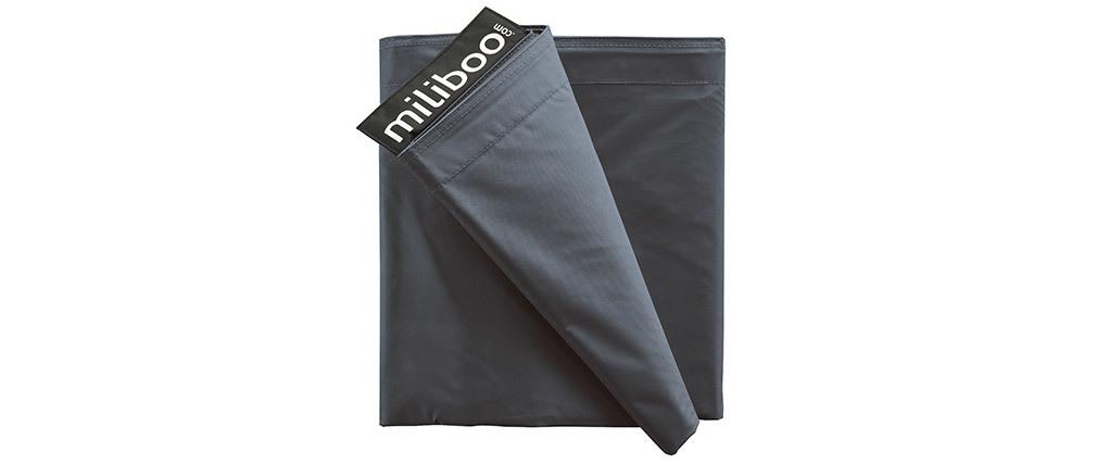 Housse de pouf géant grise BIG MILIBAG