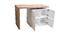 îlot - table de bar modulable avec rangement blanc mat et chêne H91 cm MAX