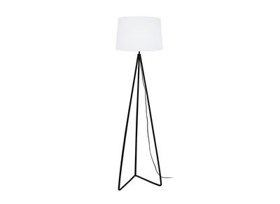 Lampadaire design pied triangle acier blanc LADY