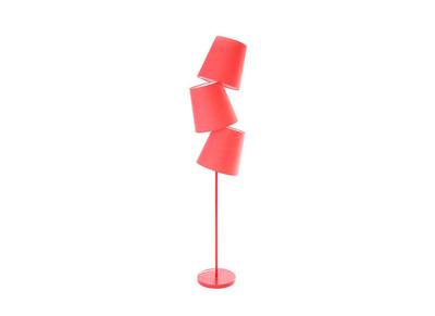 Lampadaire design rouge BAYA