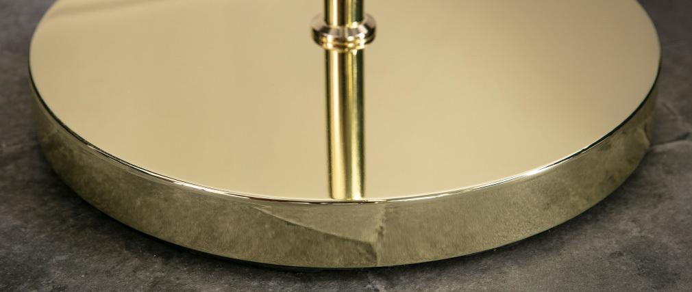 Lampadaire en métal doré et verre SOAP