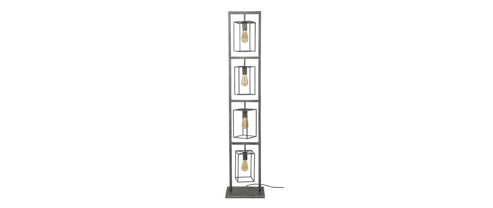 Lampadaire en métal vieilli 4 lampes QUATRO
