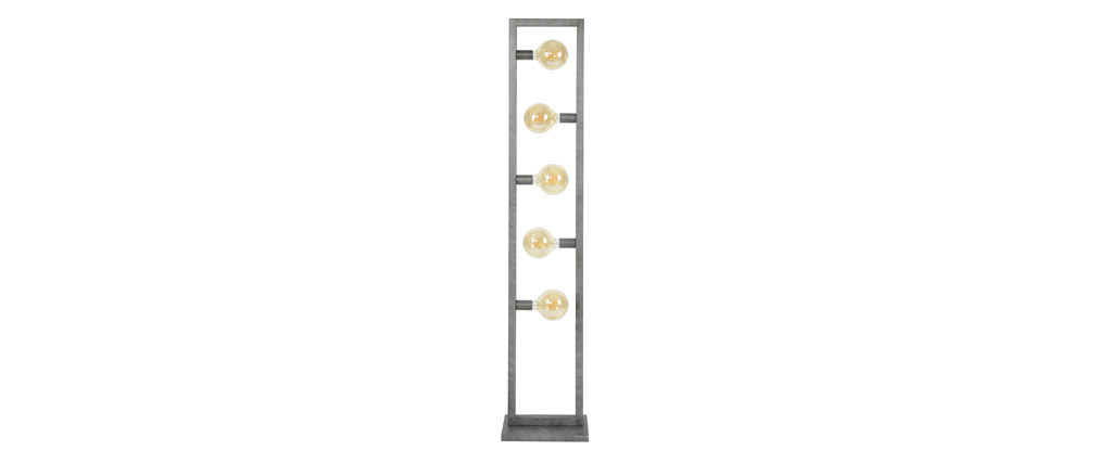 Lampadaire en métal vieilli 5 lampes LIDO