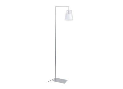 Lampadaire liseuse design verre blanc ACROSS