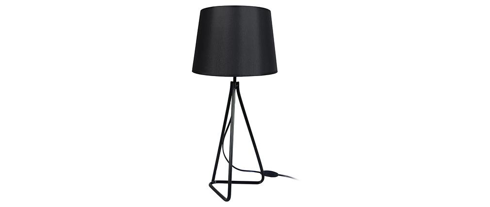 Lampe à poser design acier noir LADY