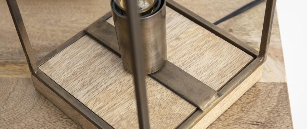 Lampe à poser industrielle bronze antique SOCKEL