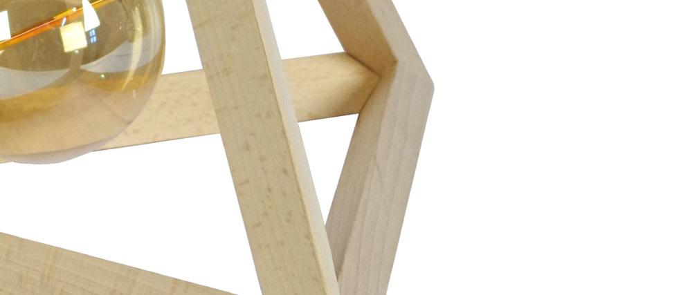 Lampe à poser pyramide en bois DUNE