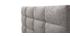 Lit adulte 140x200 cm gris clair EMERY