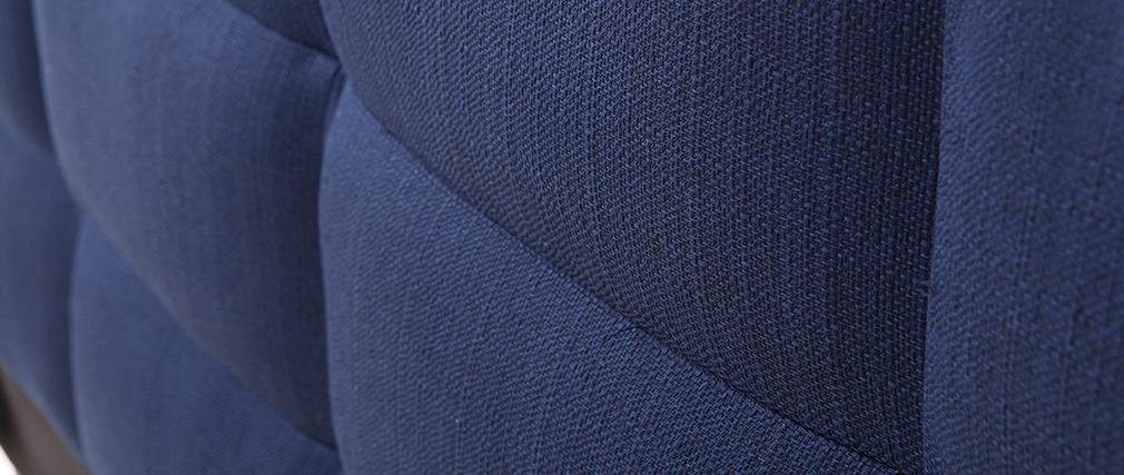 Lit adulte 160x200 cm bleu foncé EMERY