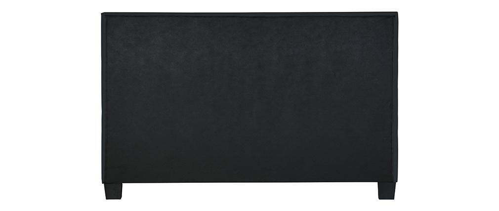 Lit adulte 160x200 cm noir SOLAL
