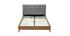 Lit adulte scandinave bois et tissu gris 160 x 200cm LYNN
